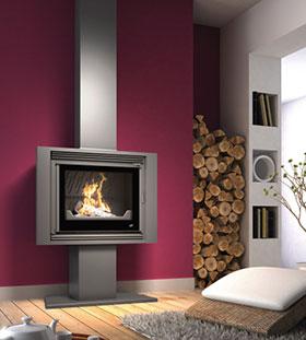 Comment bien choisir sa chemin e pour le confort du chauffage au bois - Prix poele a bois design ...