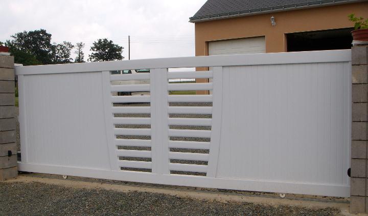 profil pvc pour portail finest portail pvc cadre aluminium x mm hauteur m motorisable. Black Bedroom Furniture Sets. Home Design Ideas