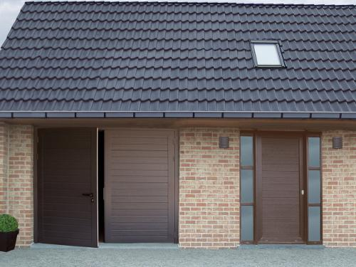 Bien choisir sa porte de garage isolation esth tique for Porte de garage battante